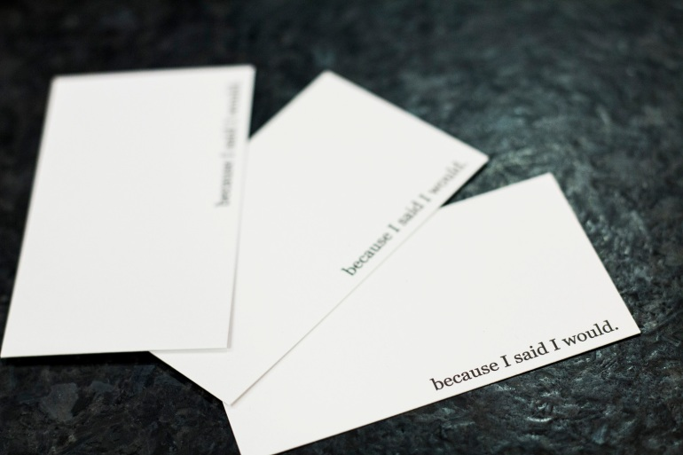 Cards from BecauseISaidIWould.com